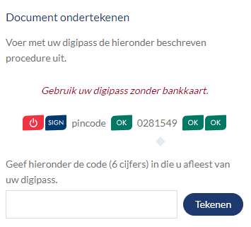 Documenten ondertekenen